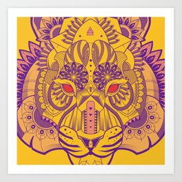 Zentangle Tiger  Art Print
