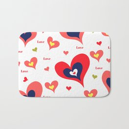 The hearts of Saint Valentines' Day Bath Mat