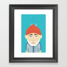 Aquatic Bill Framed Art Print