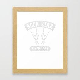 Rock Star Since 1967 Music Lover T-Shirt Framed Art Print