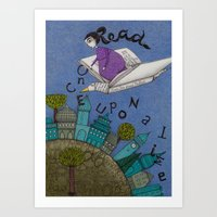 read Art Prints featuring Read by Judith Clay