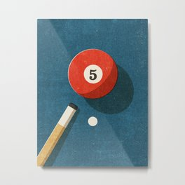 BILLIARDS / Ball 5 Metal Print