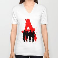 pretty little liars V-neck T-shirts featuring A's Liars by Lindsay6Link