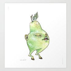pear baby Art Print