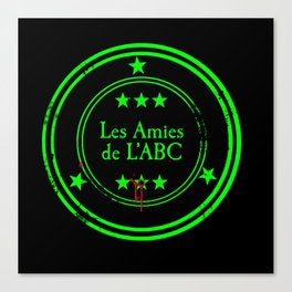 ABC Green (Black) Canvas Print