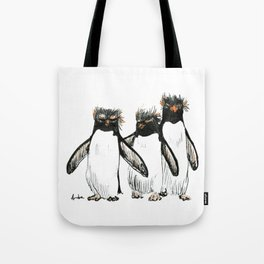 Macaroni Penguin Gang Tote Bag