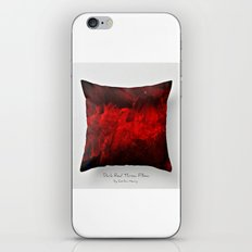Dark Red Throw Pillow Art Print 3.0 #postmodernism #society6 #art iPhone & iPod Skin