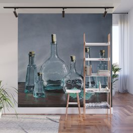 Reflections in Blue Wall Mural