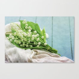 a bunch of lily of the valley Canvas Print