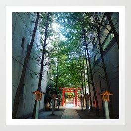 Tokyo: Hidden Temple Art Print