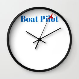 Top Boat Pilot Wall Clock