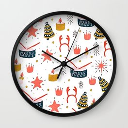 Christmas with Toys Wall Clock