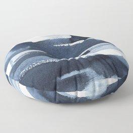 Blue Brush Floor Pillow