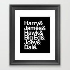 The Bookhouse Boys (Black Lodge) Framed Art Print