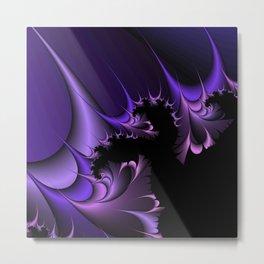 Purple Fractal Metal Print