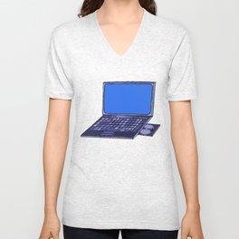 Laptop  Unisex V-Neck
