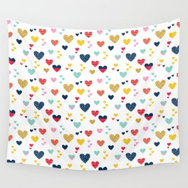 cheerful hearts Wall Tapestry