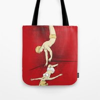 rocky horror Tote Bags featuring Rocky Horror Story by DiHA
