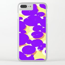 Lotus Pond Ultra Violet Lemonade Clear iPhone Case