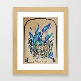 Creativity Is Courage Framed Art Print