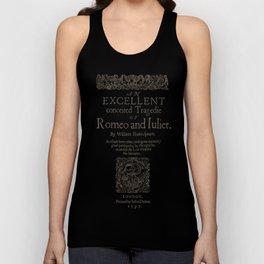 Shakespeare, Romeo and Juliet 1597 Unisex Tank Top