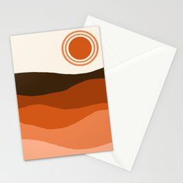 Choice - retro 70s style vibes sunset mountains desert ocean minimalist decor hipster 1970s Stationery Cards