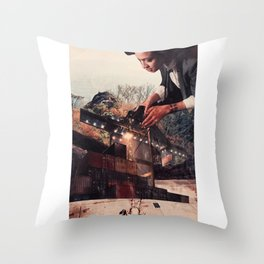 reclaiming space Throw Pillow