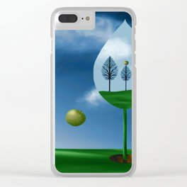 Magritte Mulligan Clear iPhone Case