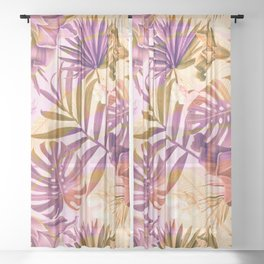Tropical fiesta - sunrise Sheer Curtain