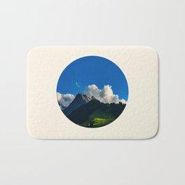 Green Mountain Valley Clouds & Blue Sky Bath Mat