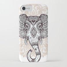 Elephant on Mandala Slim Case iPhone 7