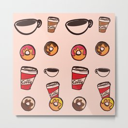 coffee&donuts Metal Print