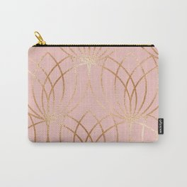 Rose gold millennial pink blooms Carry-All Pouch