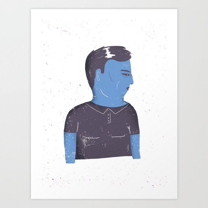 Grumpy guy Art Print