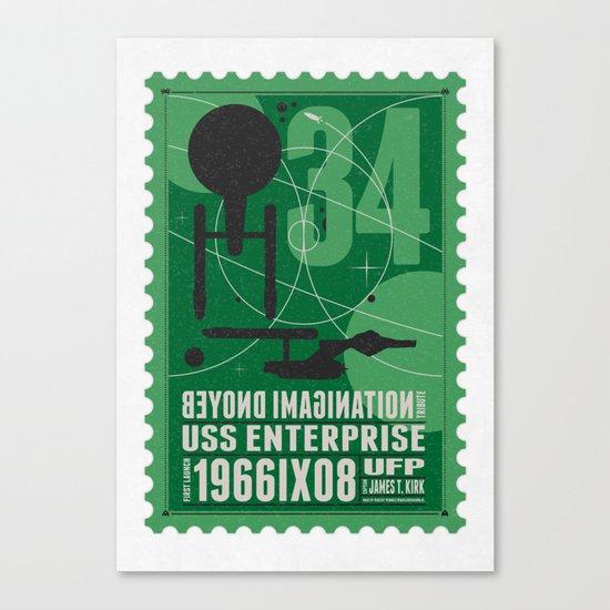 Beyond imagination: USS Enterprise postage stamp  Canvas Print