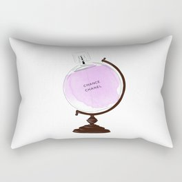 Purple Perfume Globus Rectangular Pillow