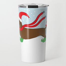 Christmas Dachshund Travel Mug