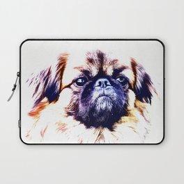 Lion Dog (white background) Laptop Sleeve