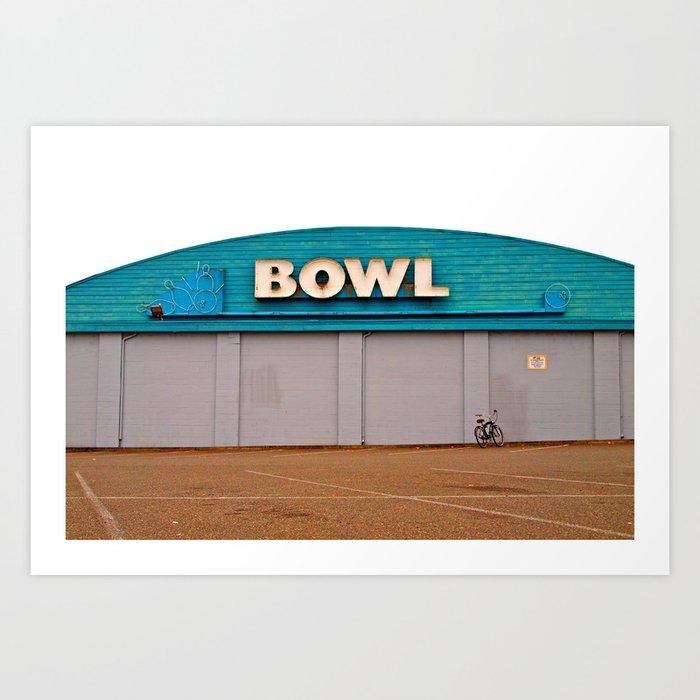 Classic bowling architecture Art Print