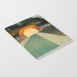 Retro Sunset Notebook