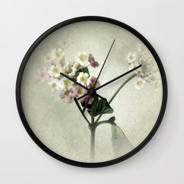 Lantana Flowers Wall Clock
