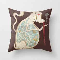 In the Belly of the Beast. Throw Pillow