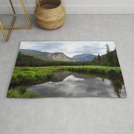 Watercolor Landscape, East Inlet Trail 01, Colorado Rug