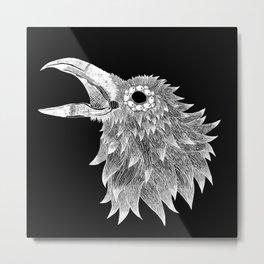 Winter Raven Metal Print