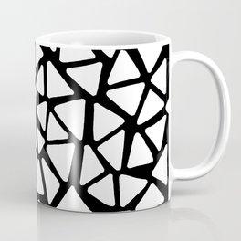 White Triangles Coffee Mug