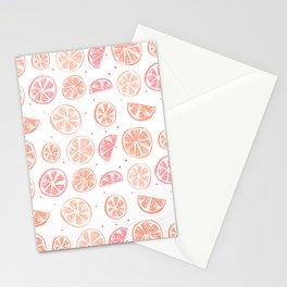 Paloma Grapefruit White Stationery Cards