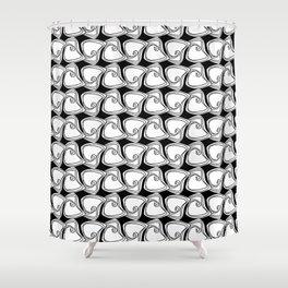 Black and White Swirls Shower Curtain