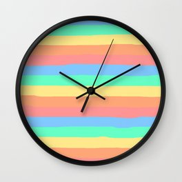 lumpy or bumpy lines abstract and summer colorful - QAB275 Wall Clock