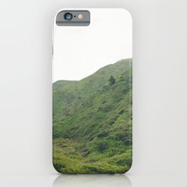 Green Giant | Peaceful Cloudy Nature Landscape Photography of California Hills iPhone Case