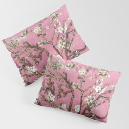 Vincent van Gogh Blossoming Almond Tree (Almond Blossoms) Pink Sky Pillow Sham